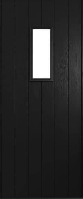 A Solidor Flint door in black