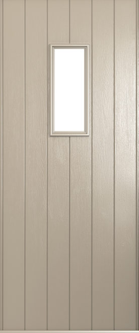 A Solidor Flint front door in cream