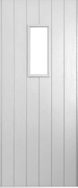 A Solidor Flint 2 front door in foiled white