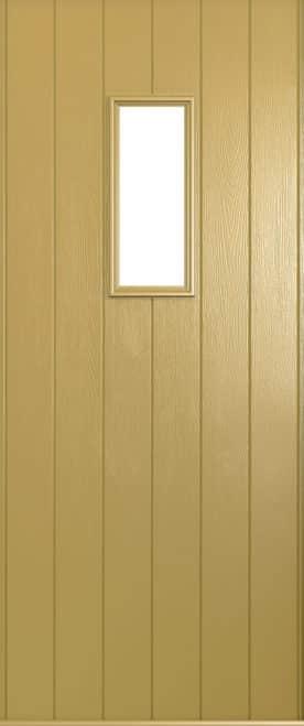 A Solidor Flint front door in golden sand