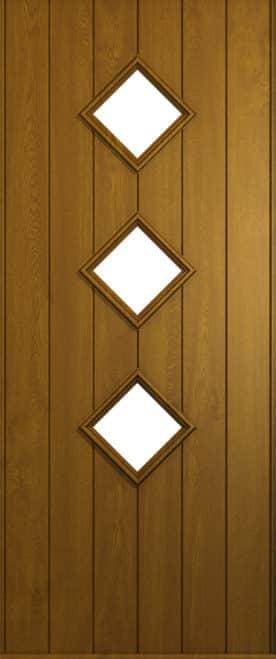 A Solidor Flint front door in golden Oak