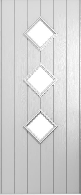 A Solidor Flint front door in foiled white