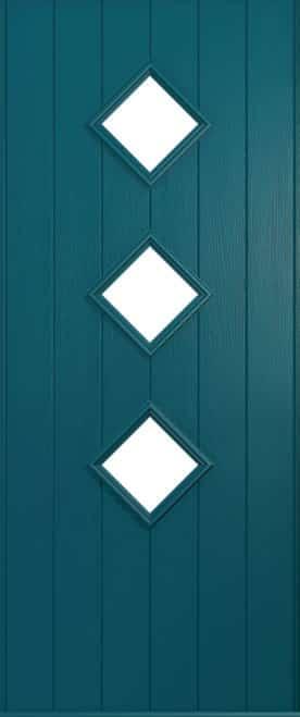 A Solidor Flint door in Peacock Blue