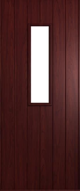 A Solidor Flint front door in rosewood