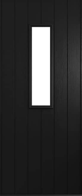 A Solidor Flint front door in black