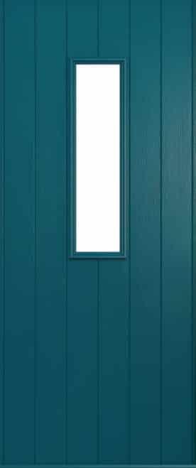 A solidor Flint front door in Peacock blue