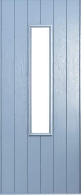 A Solidor Flint door in duck egg blue