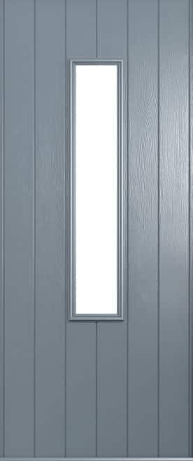 A Solidor Flint front door in French grey