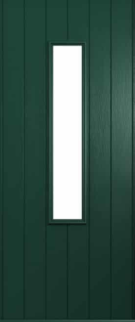 A Solidor flint front door in green