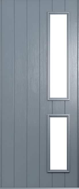 A Solidor Garda front door in French grey