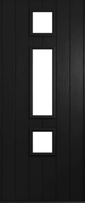 A Solidor Genoa front door in black