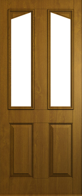Harlech door in Golden Oak