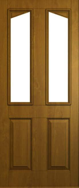Harlech door in Golden Oak