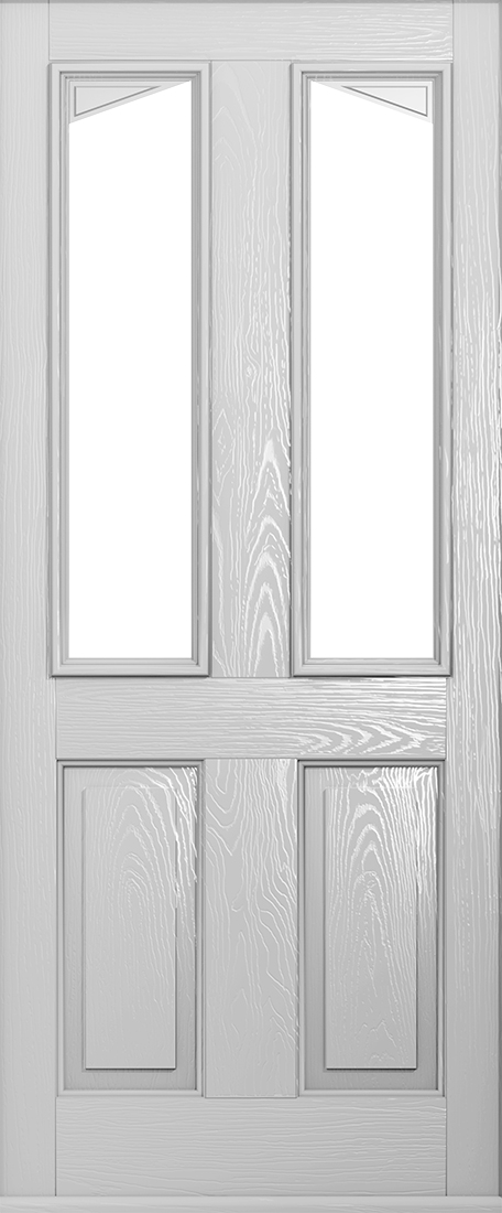 foiled white Harleck front door