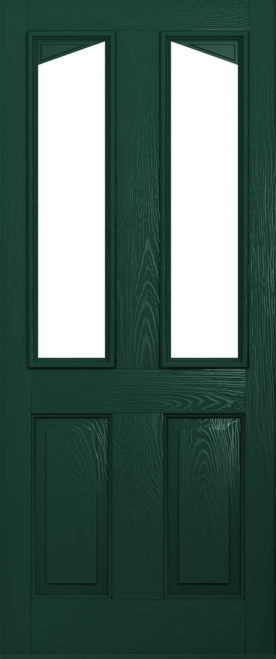 green harleck front door