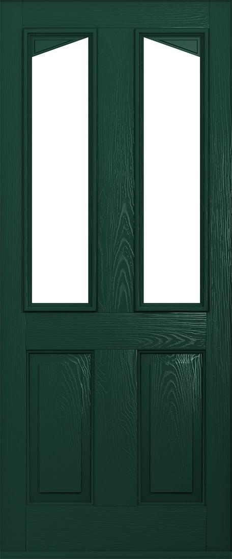 green harleck front door