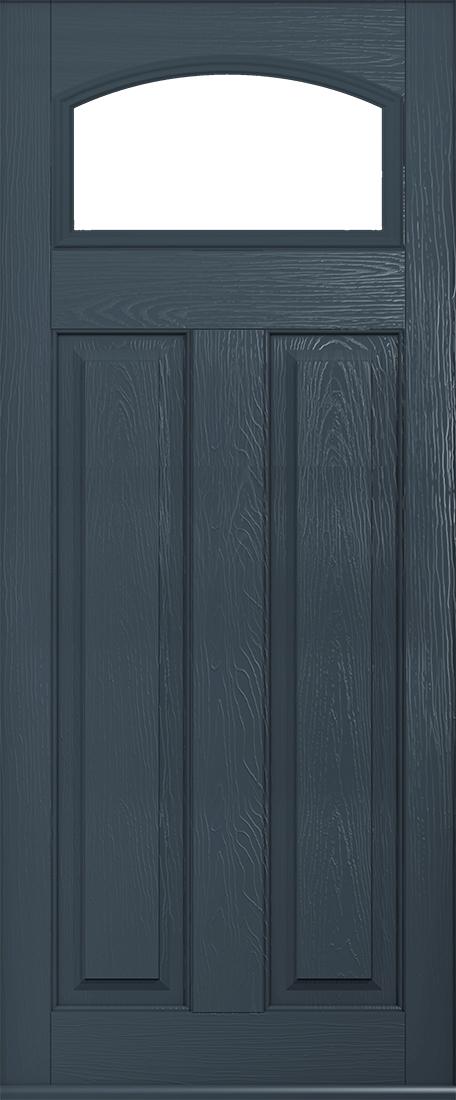 anthracite grey glazed front door