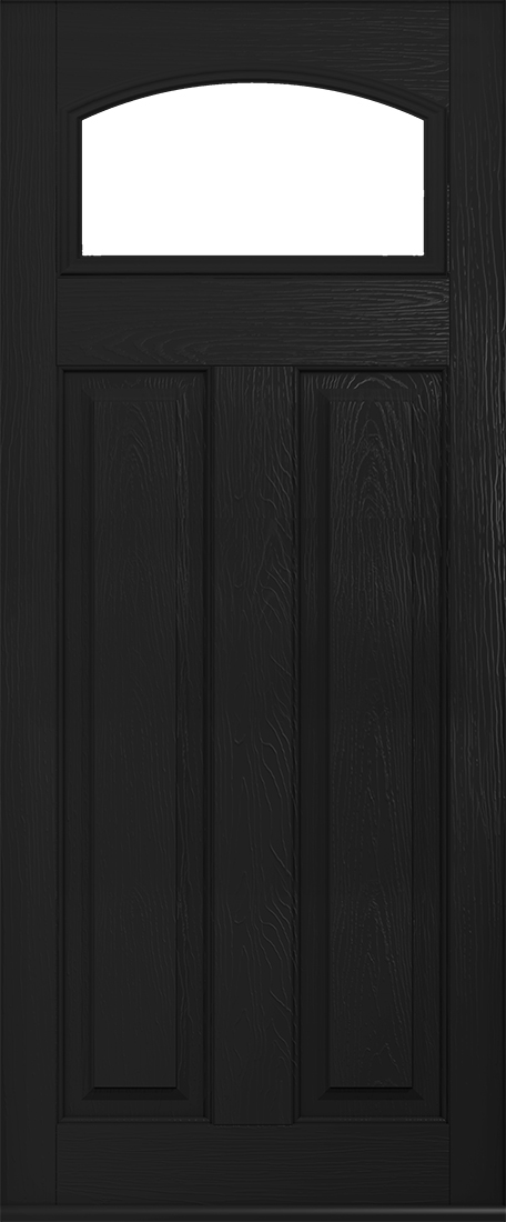Black London Glazed Composite Door