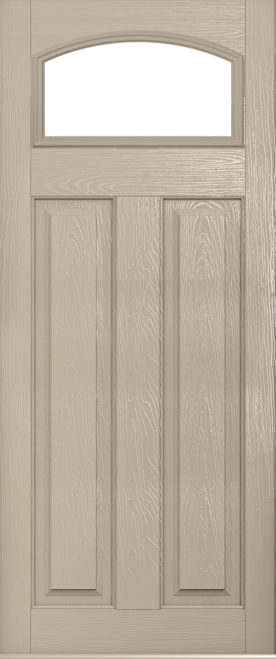cream london glazed composite door