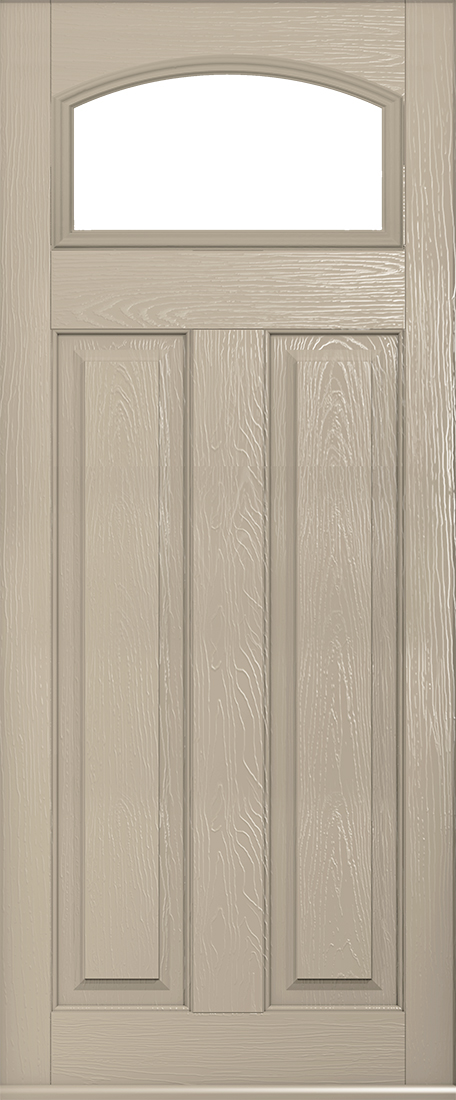 cream london glazed composite door
