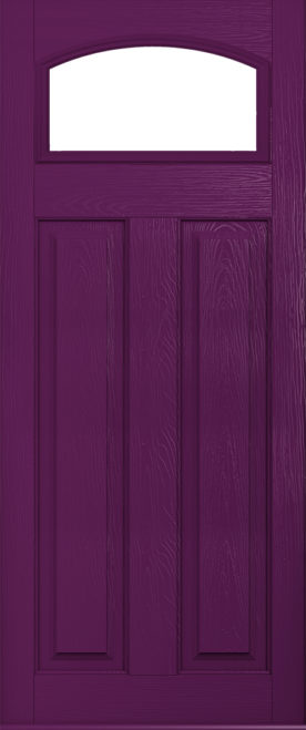 London Glazed Aubergine front door