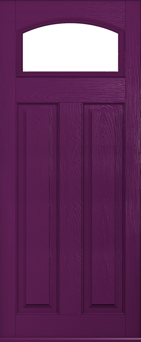 London Glazed Aubergine front door