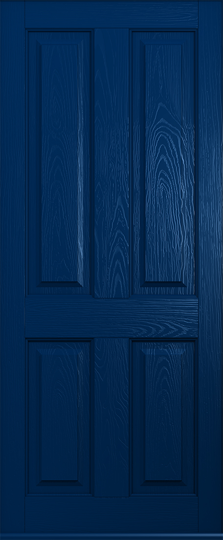 blue ludlow solid front door