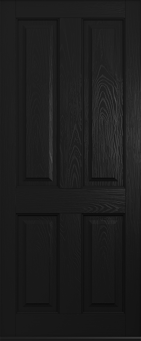 black ludlow solid front door