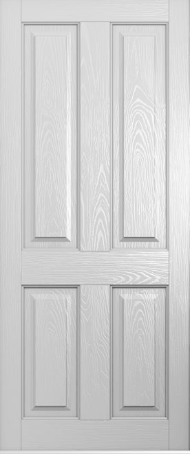 foiled white ludlow solid door
