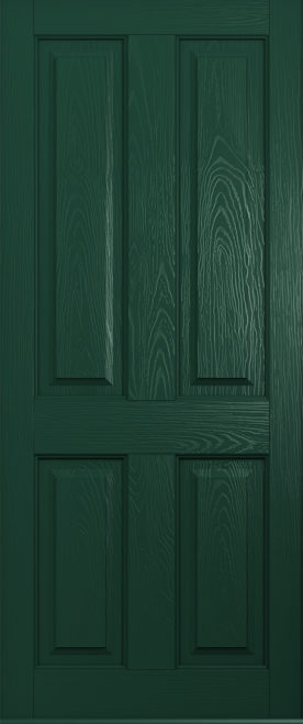 green ludlow solid front door