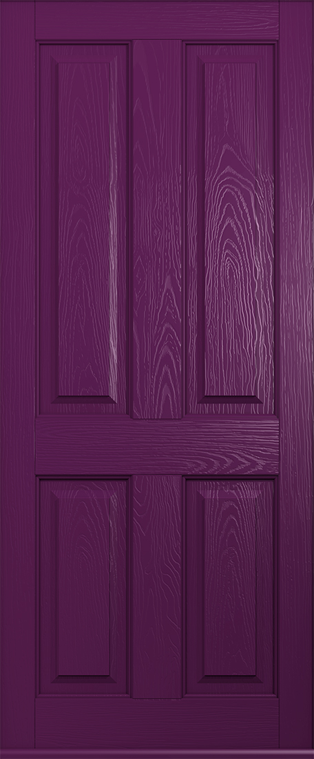 ludlow solid rich aubergine door