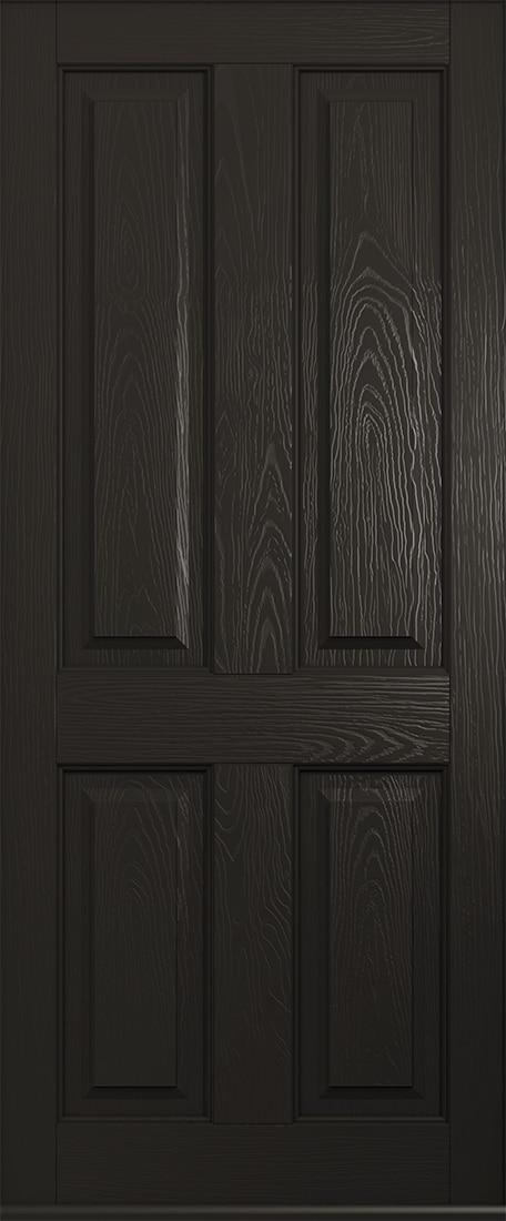 schwarzbraun ludlow solid door