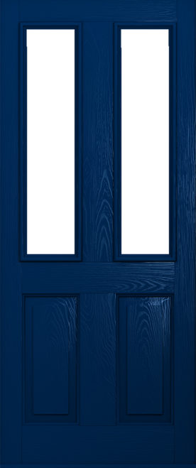 Dark blue ludlow door