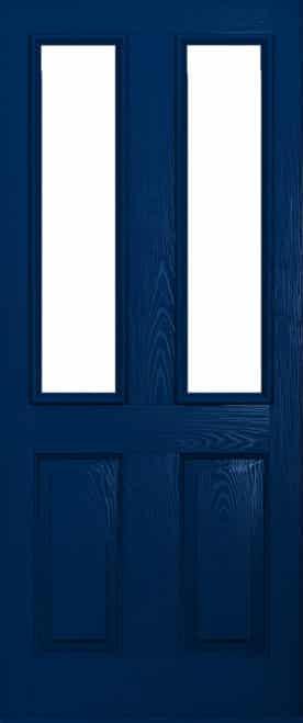 Dark blue ludlow door