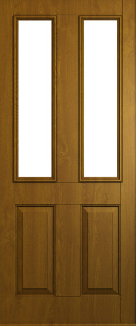 A Solidor Ludlow front door in golden oak