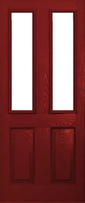 Ludlow Red Composite Door