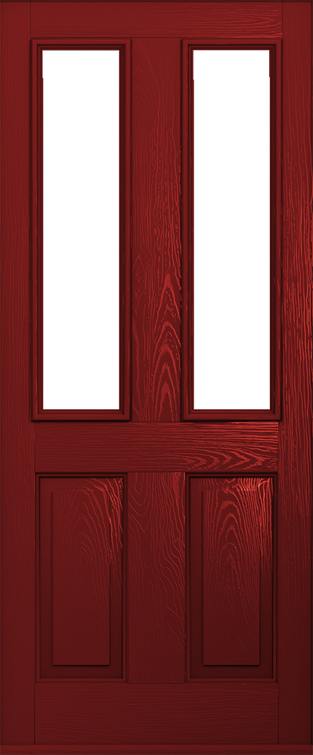 Ludlow Red Composite Door