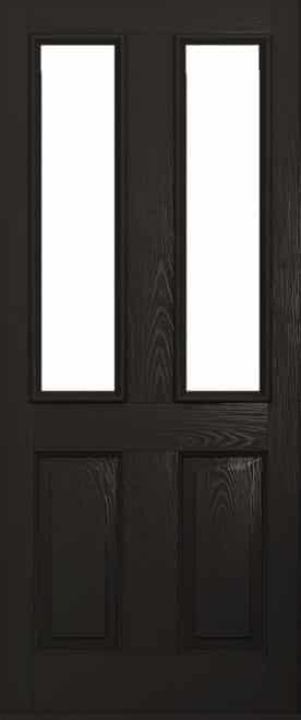 A Solidor Ludlow door in schwarzbraun