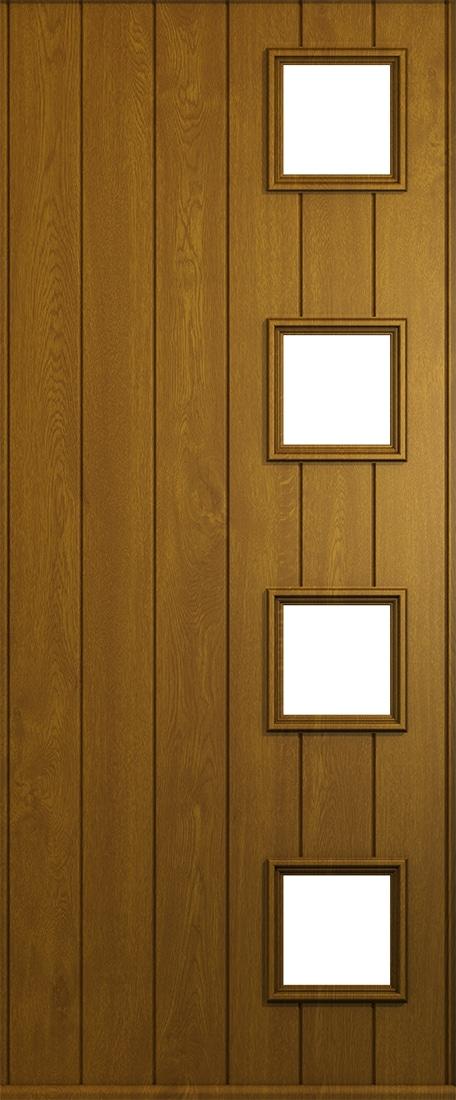 golden oak milano front door