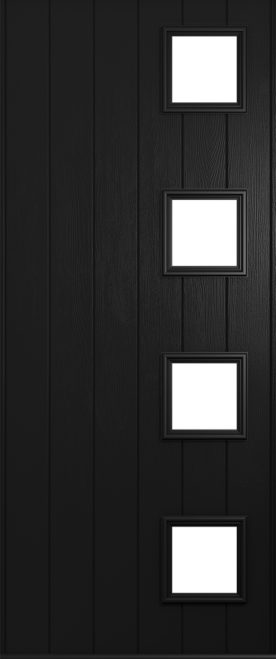 black milano front door