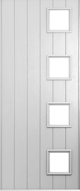 foiled white milano door