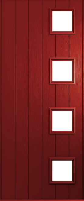 Milano front door red