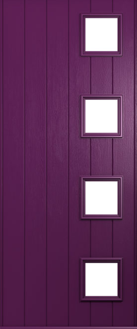 rich aubergine milano door