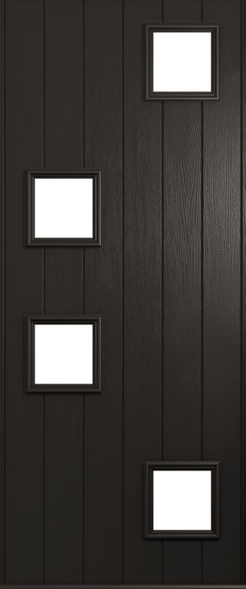 A Solidor Modena front door in schwarzbraun