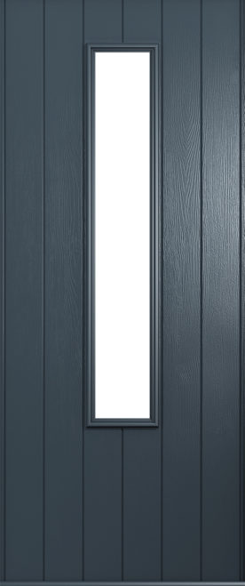A Solidor Monza front door in anthracite grey