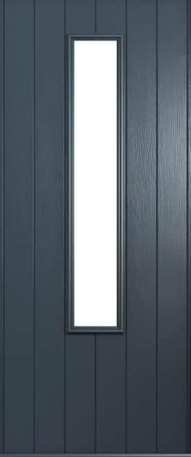 A Solidor Monza front door in anthracite grey