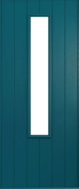 A Solidor Monza door in peacock blue