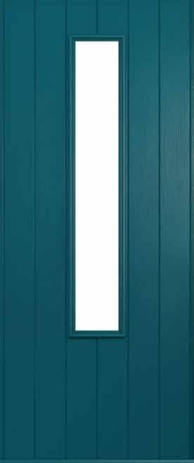 A Solidor Monza door in peacock blue