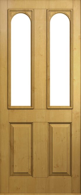 A Solidor Nottingham door in solid oak