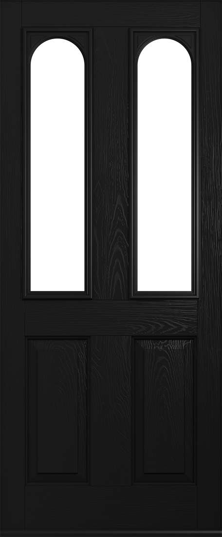 black nottingham front door